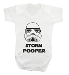 star wars storm trooper babygrow onesie
