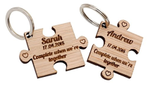 Wooden Keyrings personalised